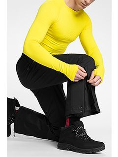 Pánské lyžařské kalhoty SPMN150 - hluboce černé