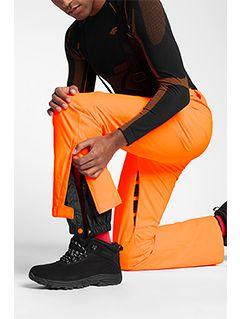 Pánské lyžařské kalhoty SPMN250 - neonově oranžové