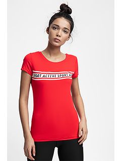 Dámské tréninkové tričko TSDF152 – červené
