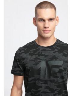 Pánské tričko TSM272 - černý allover
