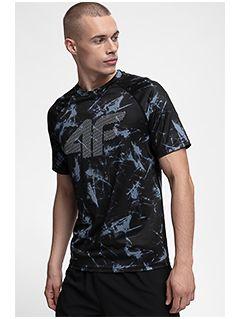 Pánské tréninkové tričko TSMF150 - černé allover