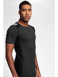 Pánské tréninkové tričko TSMF155 - hluboce černé