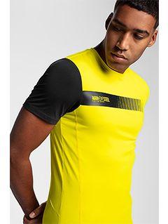 Pánské tréninkové tričko TSMF156 – žluté