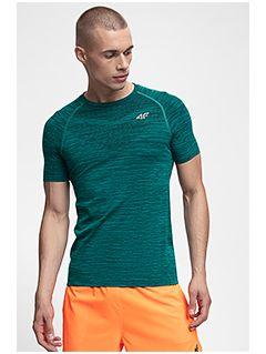 Pánské tréninkové tričko TSMF258 - tmavě zelený melír