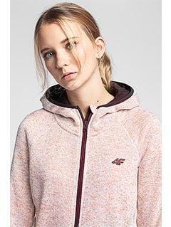 Dámský fleece PLD002 - světle růžový melír