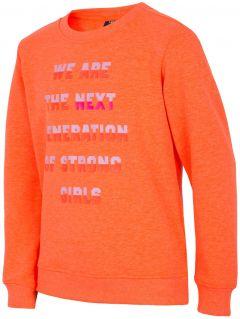 Mikina pro starší děti (holky) JBLD204 - neonově oranžová
