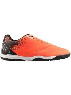 Sálovky fotbalové boty pro starší děti (kluky) JOBMP400H - neonově oranžové