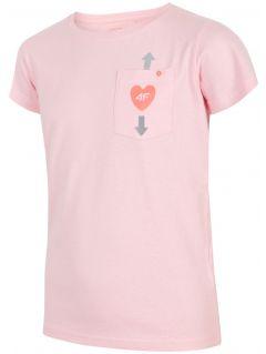 Tričko pro starší děti (holky) JTSD207 - světle růžový melír