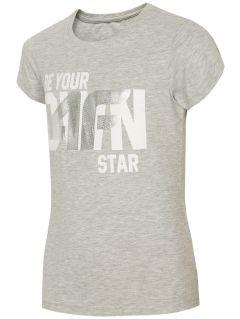 Tričko pro starší děti (holky) JTSD210A - světle šedý melír