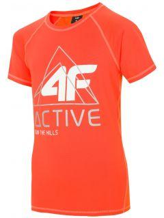 Sportovní tričko pro starší děti (kluky) JTSM405 - neonově oranžové