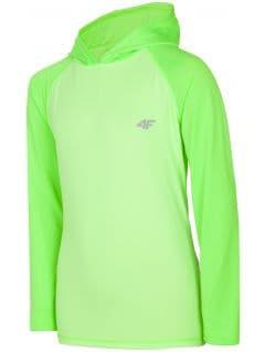 Sportovní longsleeve pro starší děti (kluky) JTSML401 - neonově světle zelený