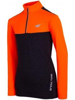 Sportovní longlsleeve pro starší děti (kluky) JTSML402 – oranžový