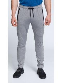 Pánské tréninkové kalhoty SPMTR200 - středně šedý melír