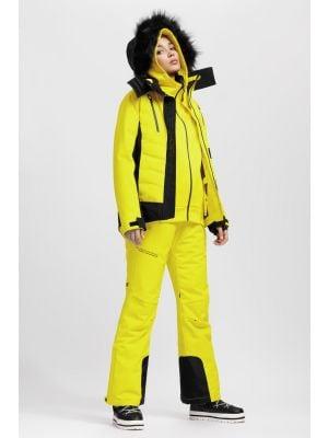 Dámská lyžařská bunda KUDN161A – žlutá