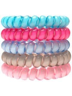 gumičky do vlasů (5 kusů) jgum209 - vícebarevná