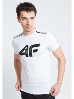 Pánské tréninkové tričko TSMF208A - BÍLÁ