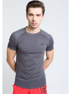 Pánské tréninkové tričko TSMF215 - TMAVĚ ŠEDÝ MELÍR