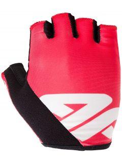 Cyklistické rukavičky unisex RRU200 - neonově červený
