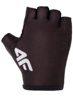 Cyklistické rukavičky unisex RRU300 - černá