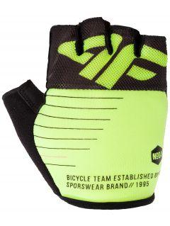Cyklistické rukavičky unisex RRU205 - neonově limetková
