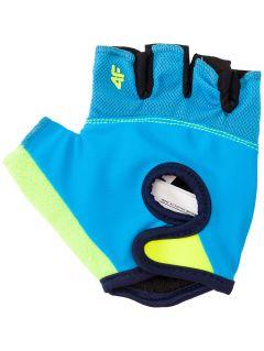 cyklistické rukavice pro starší chlapce JRRM204 -  modrý