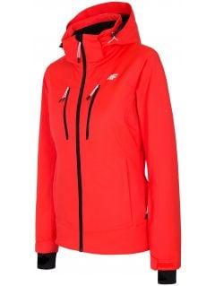 Dámská lyžařská bunda KUDN251A - neonově červená