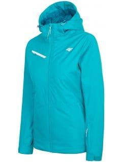 Dámská lyžařská bunda KUDN302 - tyrkysově blankytná