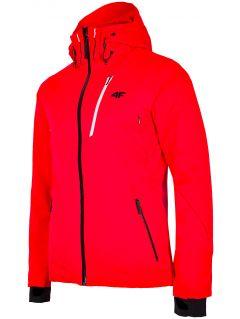 Pánská lyžařská bunda KUMN257 - neonově červená