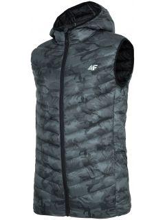 Pánská péřová vesta KUMP302 - multibarevný allover