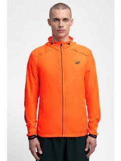 Pánská běžecká bunda KUMTR202 - neonově oranžová
