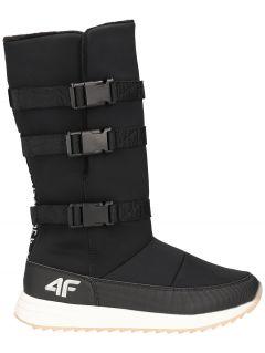 Dámské sněhové boty OBDH200 - hluboce černé