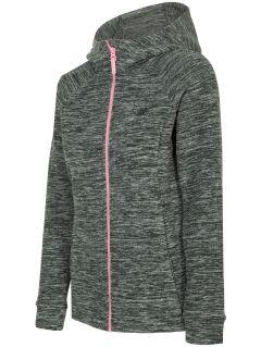 Dámský fleece PLD302 - tmavě šedý melír