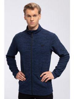 Pánský fleece PLM304 - tmavě modrý melír