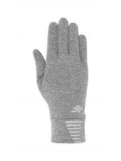 Sportovní rukavičky unisex REU303 - středně šedý melír