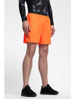 Pánské tréninkové šortky SKMF253 - neonově oranžové