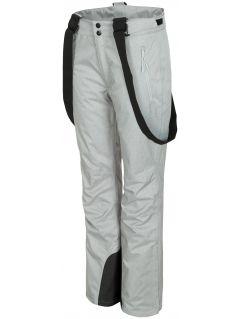 Dámské lyžařské kalhoty SPDN300 - chladný světle šedý melír