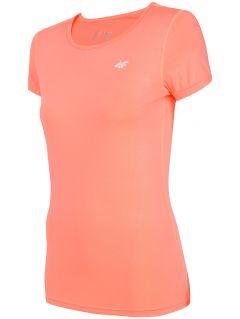 Dámské tréninkové tričko TSDF206 - neonově korálové