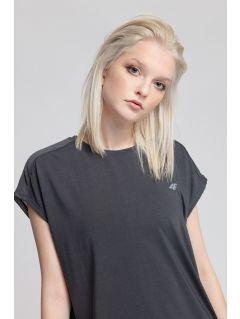 Dámské tréninkové tričko TSDF207 - tmavě šedý melír