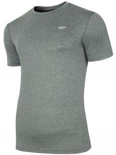 Pánské tréninkové tričko TSMF301 - teplý světle šedý melír