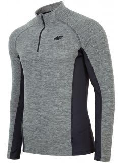 Pánské fleecové prádlo BIMP002 - šedý melír