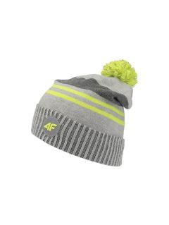 Čepice pro starší děti (kluky) JCAM227 - šedý melír
