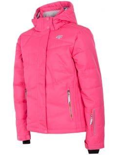 Lyžařská bunda pro mladší děti (holky) JKUDN300 – fuchsiová
