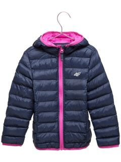 Péřová bunda pro mladší děti (holky) JKUDP106 – tmavě modrá