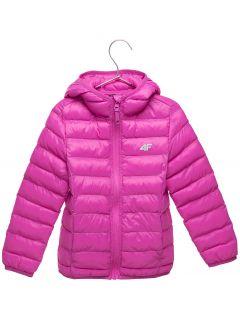 Péřová bunda pro mladší děti (holky) JKUDP106 – fuchsiová