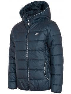 Péřová bunda pro starší děti (holky) JKUDP201 – tmavě modrá