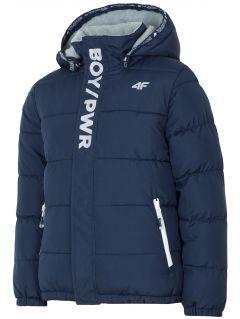 Městská bunda pro starší děti (kluky) JKUM203 – tmavě modrá