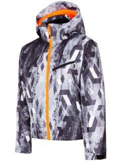 Lyžařská bunda pro starší děti (kluky) JKUMN403 - multibarevný allover