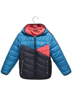 Péřová bunda pro mladší děti (kluky) JKUMP103 – modrá