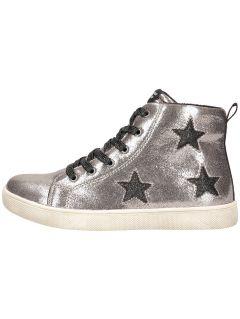 Podzimní boty pro starší děti (holky) JOBDA200 – stříbrné