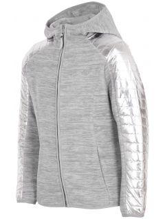Fleece pro starší děti (holky) JPLD401 - šedý melír